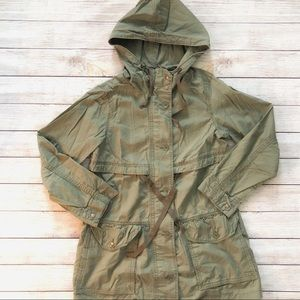 Gap Cotton Hooded Utility Jacket